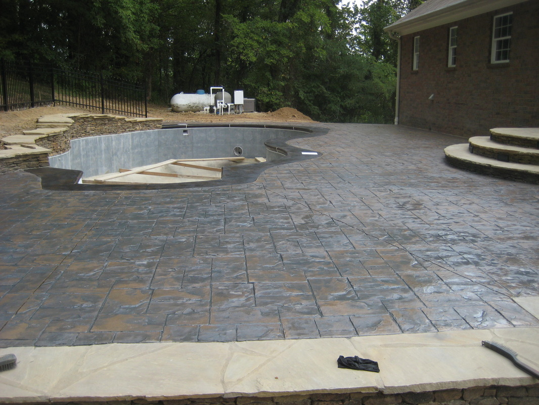 Samples Of Our Stamped Concrete Can Be Seen At Any Time Showroom With Or Without An Appointment Come On By And Take A Look For Yourself